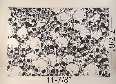 "Kydex Infused Skulls Version 2 Print Approx 11 7/8"" x 7 7/8 "" 1 Sheet"