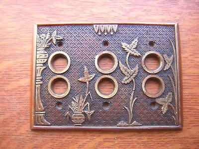 "Six New Lockwood /""Broken Leaf/"" Resin Push Button Switch Plates"