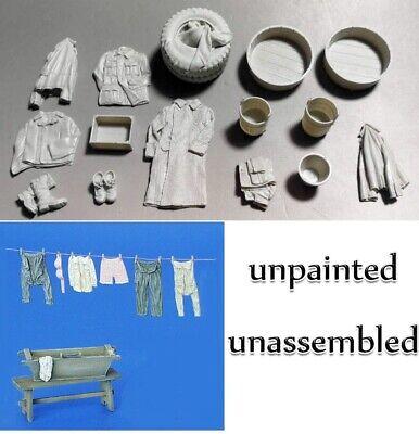1//35 Resin Soldier Clothes Bucket Shoes Set Unpainted Unassembled QJ016