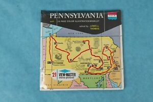 VINTAGE VIEW-MASTER 3D REEL PACKET A 630 PENNSYLVANIA STATE TOUR SEALED