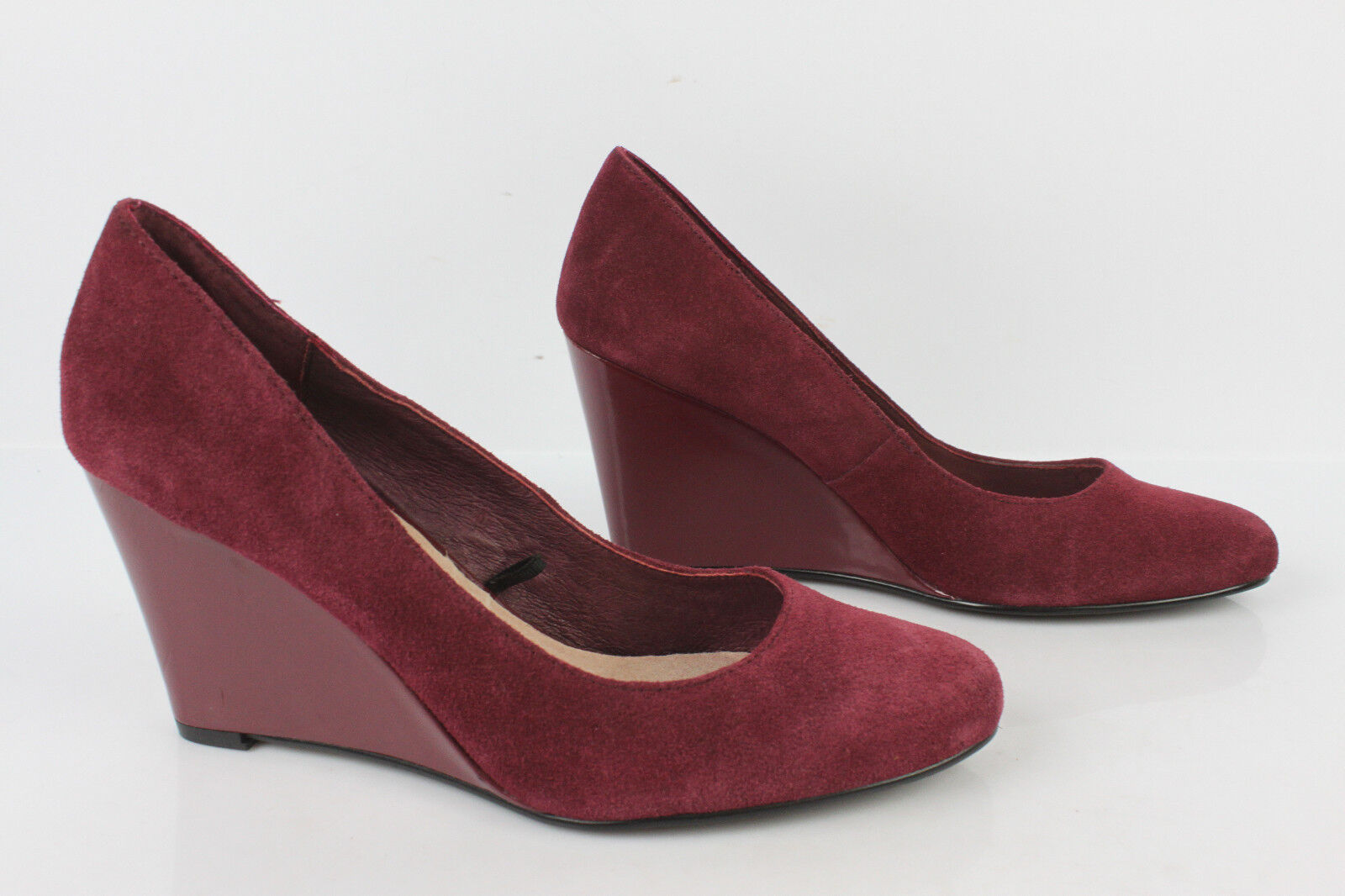 Court shoes Wedge Heels NAF Suede Bordeaux Raspberry T 39 VERY GOOD CONDITION