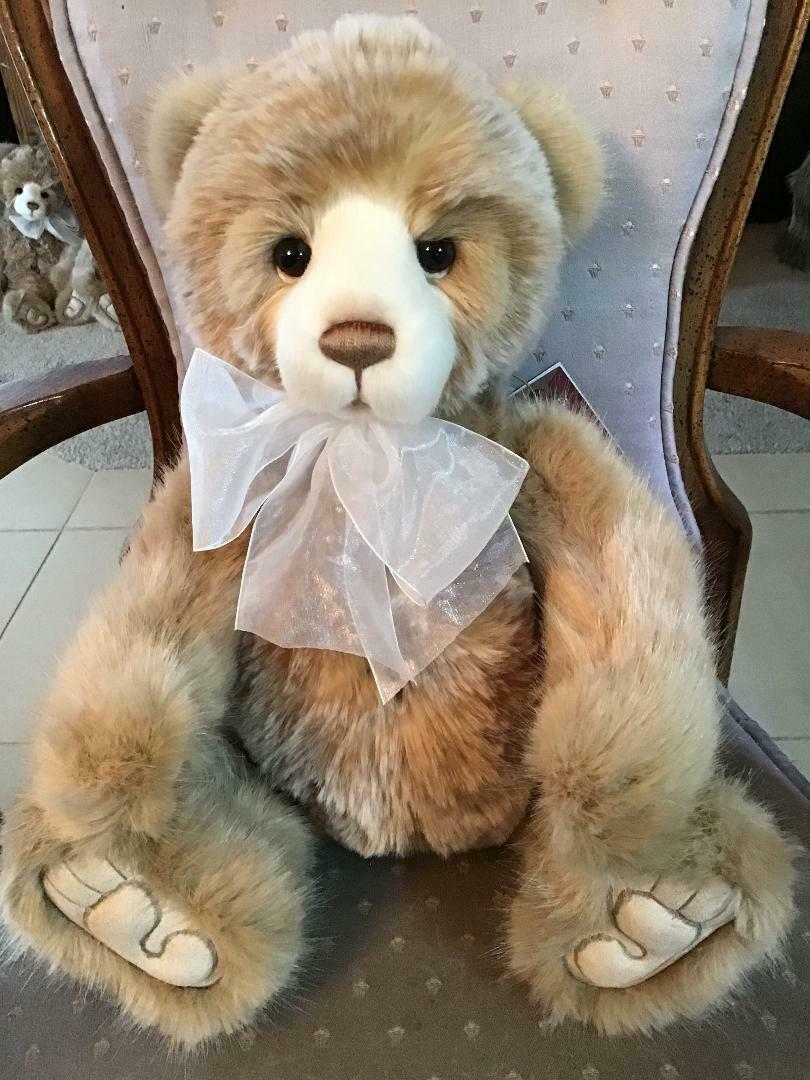 MICHELLE CHARLIE BEARS 2019 PLUSH  19  NEW WITH TAGS
