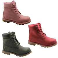 Timberland AF 6 Inch Premium Womens Boots Nubuck Leather Mono Lace Up Shoes