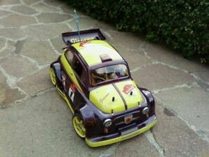 Carrozzeria body RC scala 1/8 bellissima FIAT 500 ABARTH TOURING -GT+adesivi