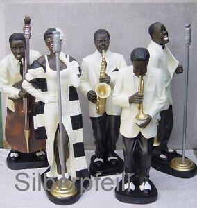 Jazz-Band-Figur-Musikband-Figuren-Saengerin-Figur-Musik-Werbefigur-Deko-Gross