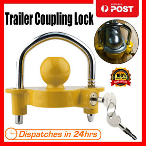 Trailer-Parts-Hitch-Lock-Coupling-Universal-Tow-Ball-Caravan-Camping-Anti-nF