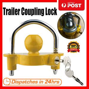 Trailer-Parts-Hitch-Lock-Coupling-Universal-Tow-Ball-Caravan-Camping-Anti-Theft