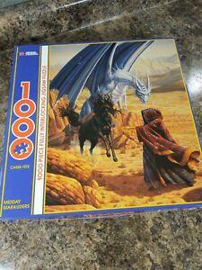 RARE-1993-MYSTICAL-DRAGON-HORSE-WIZARD-1000-PIECES-PUZZLE-MIDDAY-MARAUDERS