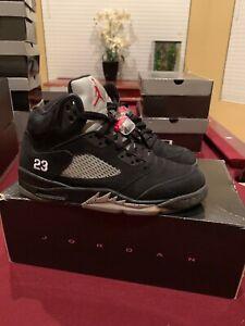 innovative design 2ed91 3241b Details about Nike Air Jordan Retro 5 Black Metallic Mens Shoe Size 10.5