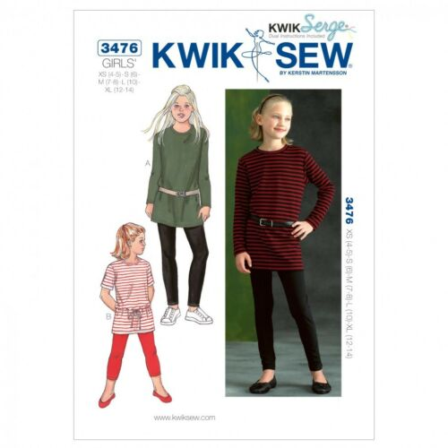 kwikse... Kwik Sew Childrens Easy sewing pattern 3476 Tunique Tops /& leggings