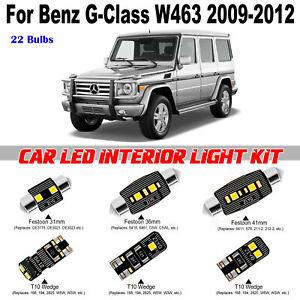 22 Bulbs White LED Full Interior Light Kit For Benz G-Class W463 2009-2012 Lamps