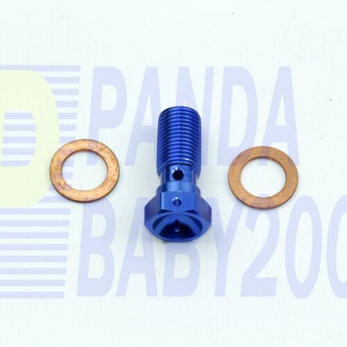 3//8x24 UNF AN3 3AN AL Banjo Bolt Brake Hose End Fitting Adapter 9.7mm M10x1.0 BL