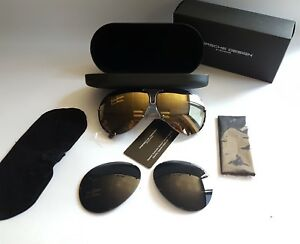 New Porsche Design P8478 E 6610 135 Gold Mirror Celebrities ... 485e227cfbd