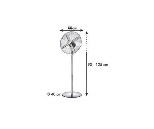 Stand Ventilateur Stand Ventilateur 44 cm Acier Inoxydable Anthracite souffleries schwenkb