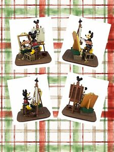 Disney-Parks-Self-Portrait-Mickey-Mouse-and-Walt-Disney-Figurine-FIGURE-COA-GIFT