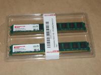 Komputer Bay Desktop Memory 2gb 2 X 1 Gb Pc2 4200 / 4300 Ddr2 533 Mhz Ram Sealed