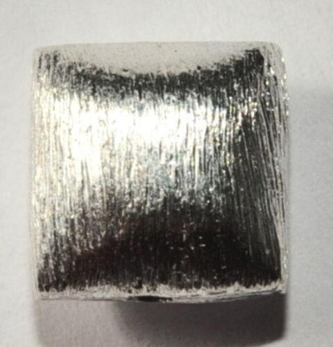 8 mm Coussin de 925-er Argent Brossé 03017