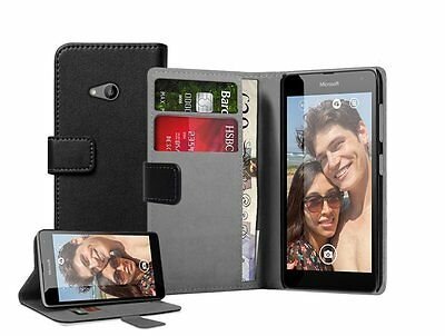 WALLET Leather Flip Case Cover Pouch For Nokia Microsoft Lumia 535 Dual Sim