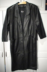 Størrelse Pads Shoulder Argentina Medium Kvinder M Duster Leather Black Comint Jacket WnKcq6I4v