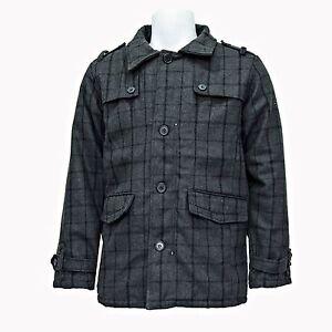 SK-CONTINENTAL Mens New Warm Vintage British Traditional Winter Long Coat Jacket