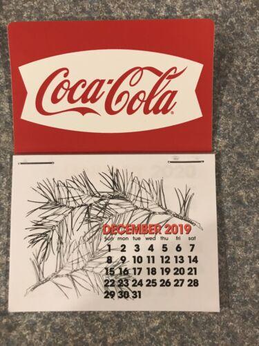 NEW 2020 white fishtail  Coke dash calendar