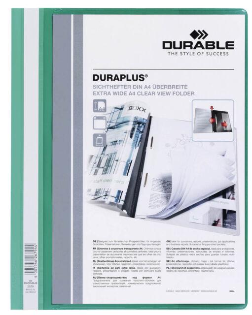 DURABLE Präsentationshefter DURAPLUS® grün A4+ Sichthefter - 25er Pack