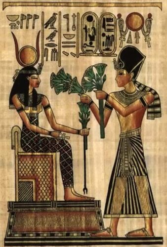Isis /& Osiris~counted cross stitch pattern #1173~Egyptian People Fine Art Chart