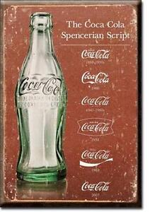 usa coca cola k hlschrank magnet vintage schriftz ge magnetschild ebay. Black Bedroom Furniture Sets. Home Design Ideas