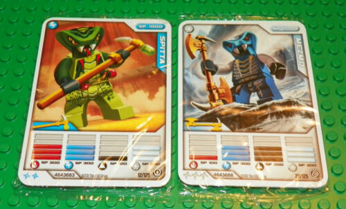 2 Packs of 5 Cards LEGO Ninjago Mini Figure SPITTA /& MEZMO Cards