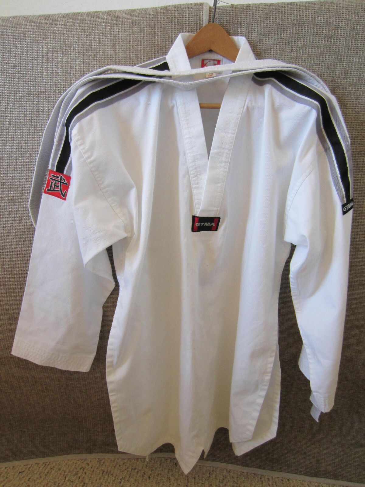 MARTIAL ARTS, KARATE, WHITE COAT, PANTS & BELT OUTFIT