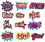 miniature 1 - Embroidered Patches Comic Cartoon Word Slogan Iron on Sew on Applique Badges