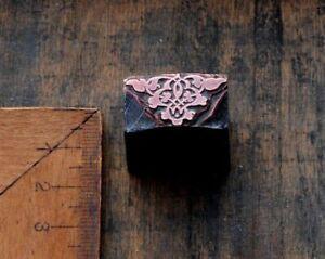 ORNAMENT-Jugendstil-Kupferdruckstock-Galvano-Klischee-Art-Nouveau-Druckstock