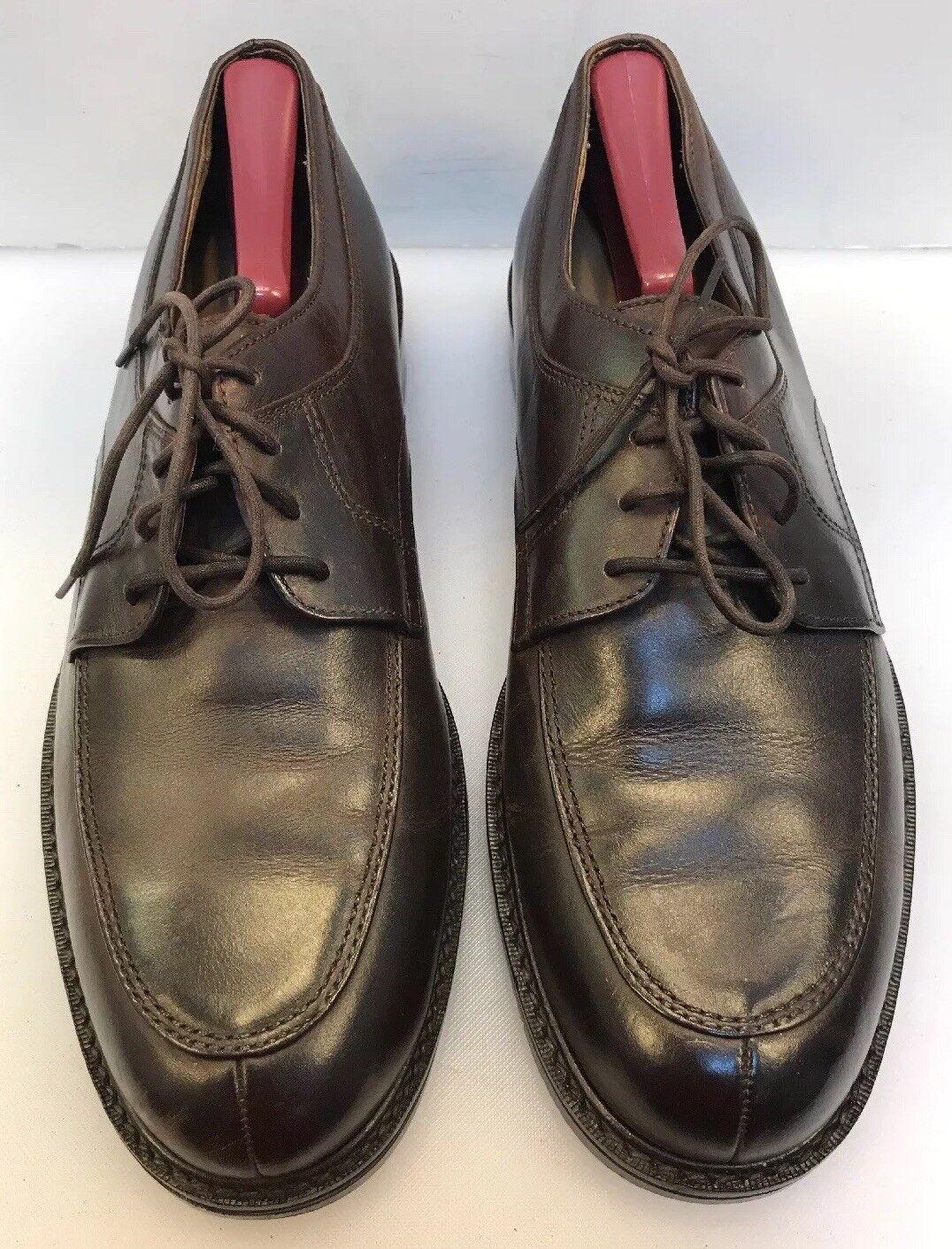 Cole Haan Men 9.5 M Split Toe Oxfords shoes Dark Brown C00398