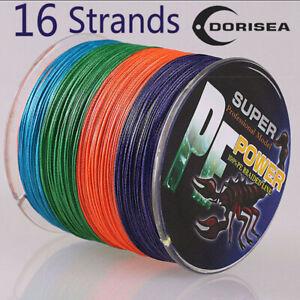 16-Strands-100-2000M-20-300LB-Multi-color-Hollow-pe-Dyneema-Braided-Fishing-Line