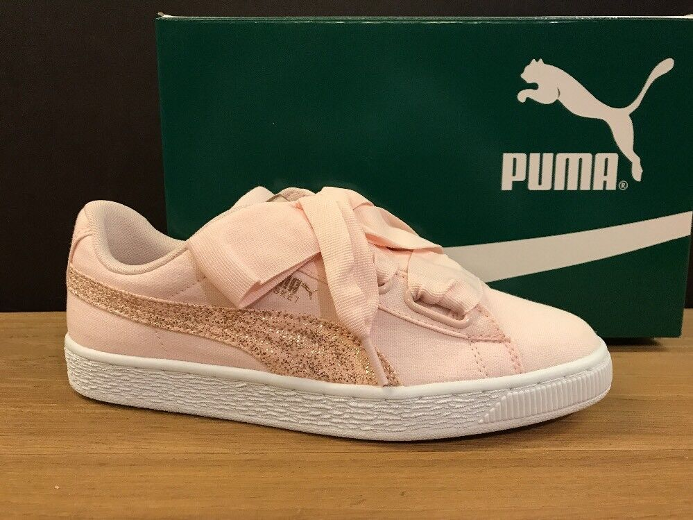 PUMA BASKET HEART CANVAS ORIGINALI 366495 02 n.38,5 NUOVE 100% ORIGINALI CANVAS !!! a0c4a1