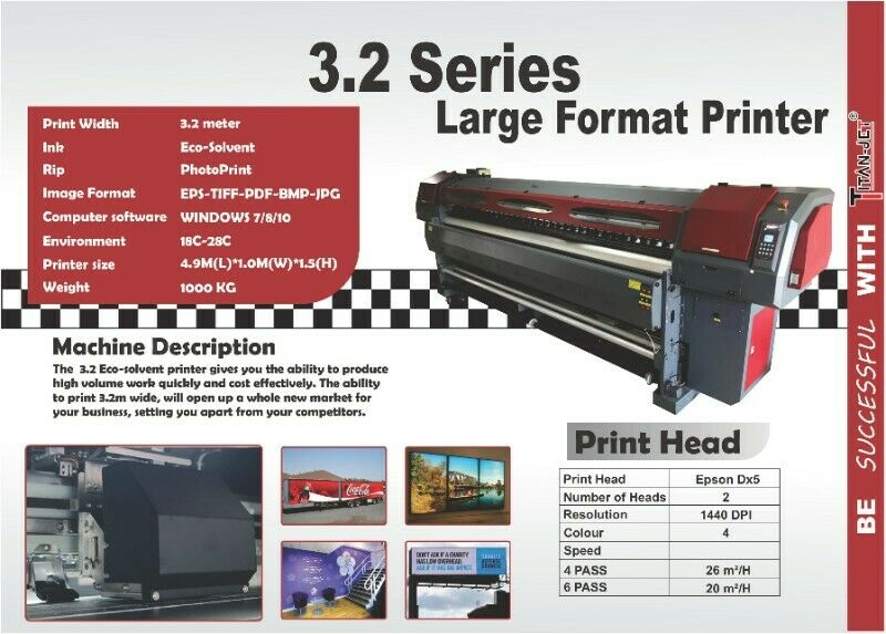 3.2m eco-solvent printer
