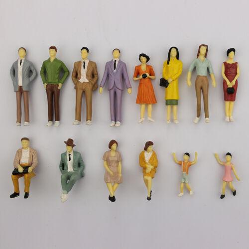 HO Maßstab 1:87 ABS Painted People 1x Sitzpassagier Random Modell Figu G U8H4