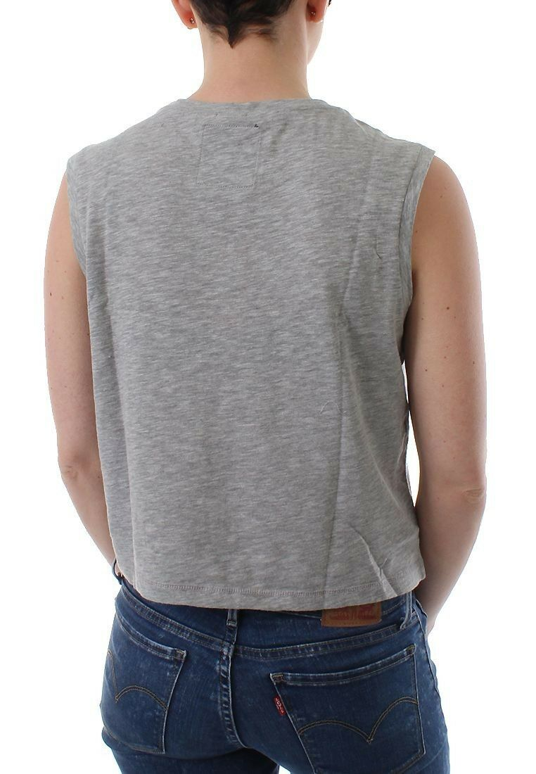 Superdry TANK TANK TANK DONNE Photographic MARGHERITA Gilet Grigio marna 5ca4e5