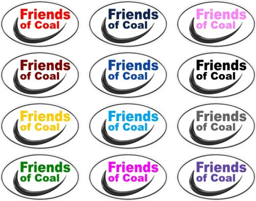 back glass Window Decals Friends of Coal hard hat Decal Sticker