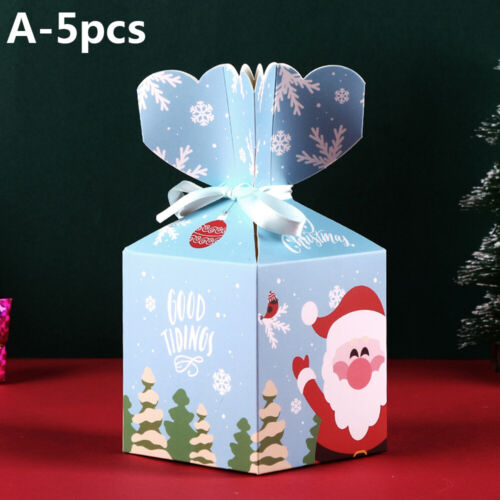 Kids Favors Gift Package Candy Box Xmas Bags Paper Carrier Christmas Decoration
