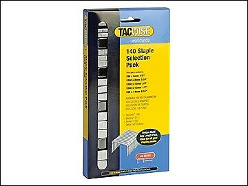 Sélection Pack 4400 TAC0350 Type T50, G Tacwise 140 Heavy-Duty Staples