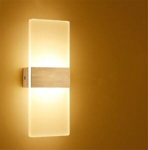 3w led wall sconce light fixture acrylic lighting living room bedside wall lamp ebay for Living room wall light fixtures