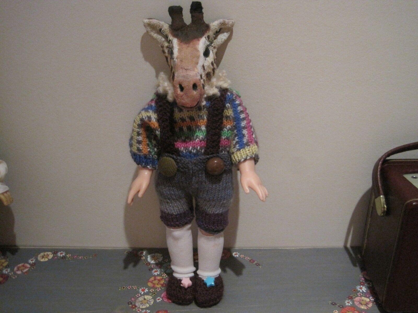 OOAK ECCENTRICO & Insolito Giraffa Boy Doll