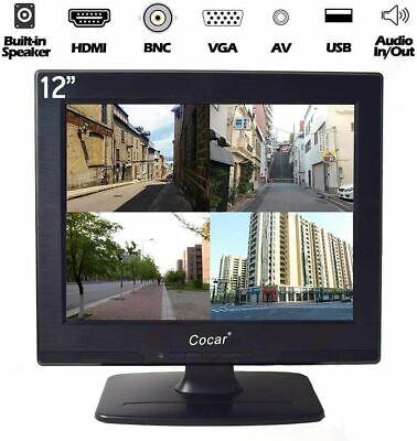 Details about  LCD Security CCTV Monitor VGA HDMI AV BNC, 4:3 HD Display (LED Backlight)12 Inch
