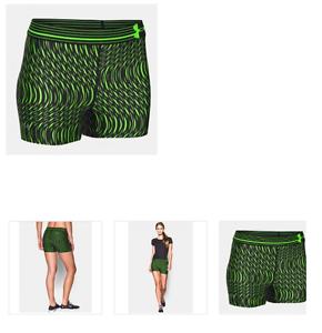 En la mayoría de los casos Libro Guinness de récord mundial hijo  Under Armour Women's Shorty 3'' Compression Shorts GREEN BLACK SIZE XS  $29.99 | eBay
