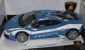 bburago 1 18 lamborghini huracan lp 610 4 polizia italian police car ebay. Black Bedroom Furniture Sets. Home Design Ideas