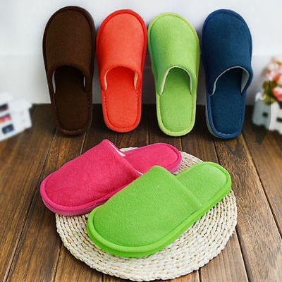 Women Men Indoor Slippers Winter Warm Anti-slip Shoes Soft Cotton Home Sandal