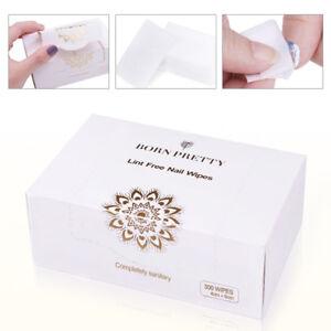 300Pcs-Fusselfrei-Pads-Nagel-Gellack-Entferner-Cotton-Cleaner-Wipes-Born-Pretty