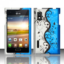 For LG Optimus Extreme L40G Rubberized HARD Case Snap On Phone Cover Blue Vines