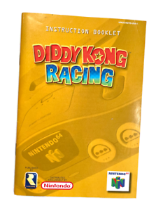 DIDDY KONG RACING Nintendo 64 N64 Original Instruction Manual Booklet Book ONLY!